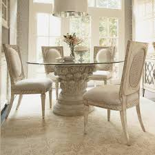 glass dining table base. American Drew Jessica McClintock Home The Boutique Collection 5 Piece Round Glass Dining Table With Pedestal Base