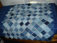 Rag Quilts - How to make a Denim Rag Quilt | Blue jean quilts, Rag ... & Denim Rag Quilt Lap Size Blue Jean Throw by yourpatternplace, $69.99 Adamdwight.com