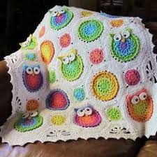 Crochet Owl Blanket Pattern Free Enchanting Crochet Nursery Owls Ripple Blanket With Free Pattern Crochet Owl