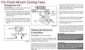 how to wire ceiling fan how to hang a flush mount ceiling fan wiring diagrams for