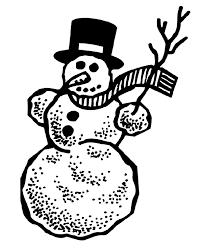 Kleurplaat Sneeuwpop Crayolabe