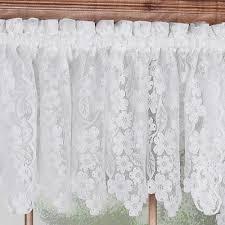 dogwood lace insert valance 55 x 18