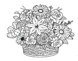 Printable Coloring Pages Flowers Printable Coloring Pages Of Flowers