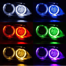 For Bmw H8 Wifi Control Led Marker Angel Eyes Halo Rings Rgb