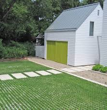 Farmhouse driveway exterior farmhouse with green garage door ...