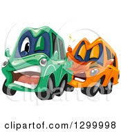 car accident clipart. clipart of cartoon cars colliding royalty free vector illustration car accident