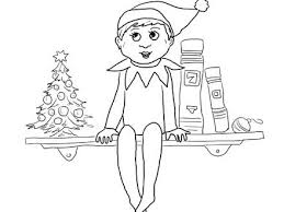 Elf On The Shelf Pictures To Color Coloring Home Coloring Pages