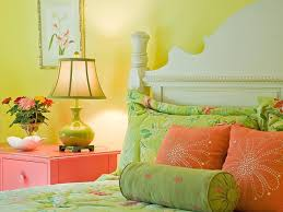 Orange And Green Bedroom Colorful Small Bedroom Decorating Ideas