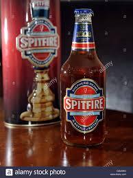 spitfire beer. bottle of spitfire real ale brewed by shepherd neame from kent uk beer
