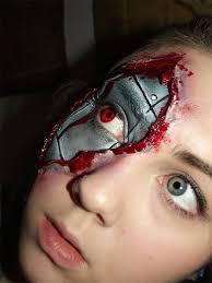 realistic cyborg makeup by kikimj