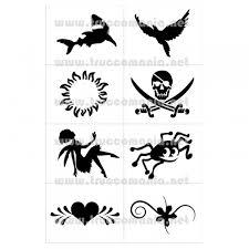 Set Stencil Per Tattoo Glitter 8 Design Set B