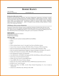 Technical Project Manager Resume Summary Best Of 10 Summary Of
