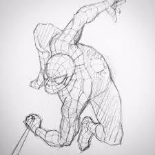スパイダーマン 絵 書き方