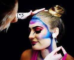 makeup artist teaches many techniques