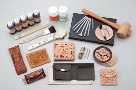 kyoshin elle leathercraft leather hand lacing set stamping tools wallet kit