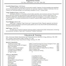 Nursing Resume Templates Graduate Template Free Curriculum Vitae