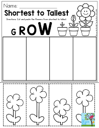 Shortest to Tallest- Perfect for a gardening unit in Preschool ...