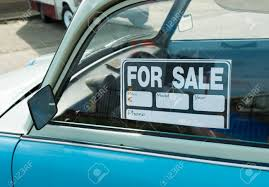 For Sale Sign On Car For Sale Sign On A Car Stock Photo Picture And Royalty Free Image