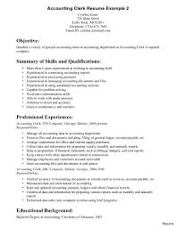 Accounting Clerk Resume Sample Confortable Office Clerk Resume Examples On Sample Clerical Work 2