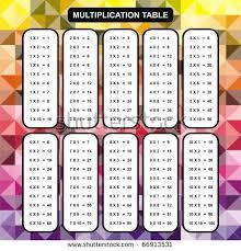 table 10. multiplication table stock photos, . 10