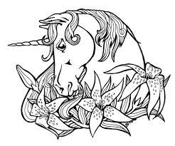 Pagine Da Colorare Con Unicorni 100 Immagini In Bianco E Nero