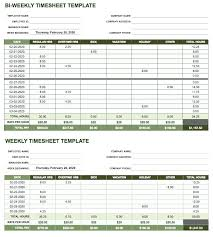 Timecard Calculation Bi Weekly Template Google Spreadsheet To Calculate Hours Worked In