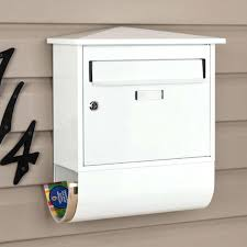 locking mailboxes residential home decor mounted mailbox with castle locking wall mount with alluring locking mailbox residential regarding house best