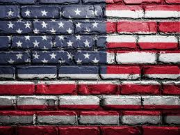 flag usa america wall painted
