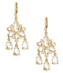 inspiring kate spade crystal chandelier earrings black green
