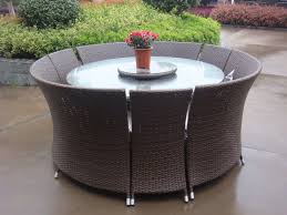 round wicker patio table