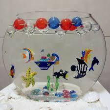 china glass handicraft marine aquarium floating fish