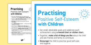 Self Esteem Chart Practicing Positive Self Esteem With Children Self Esteem