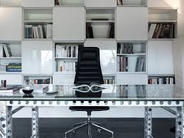 modern home office. Residential Building | Martelange Modern-home-office-and-library Modern Home Office