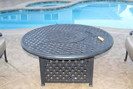 nassau outdoor patio 52 round fire pit enclosure with burner includes 52 fire pit with burner series 3000 antique bronze finish