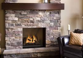 artificial stone veneer fireplace