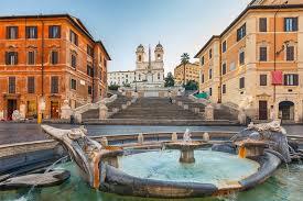 Die restaurierung der spanischen treppe ist endlich vorbei. Piazza Di Spagna Am Fuss Der Spanischen Treppe Zur Trinita Dei Monti