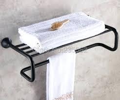 wall mount towel rack bathroom accessory black oil rubbed bronze wall mounted towel rail holder storage wall mount towel rack