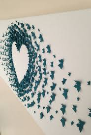 Wall Decoration Paper Design butterflypaperartwalldecoration 4