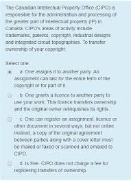 Solved The Canadian Intellectual Property Office Cipo I
