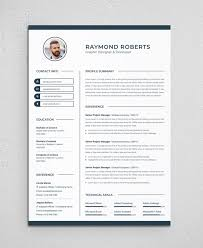 Modern Resume Contact Information Clean Modern Resume Cv Template To Help You Land That Great Job