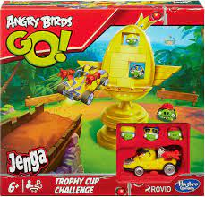 Other Toys & Games Trophy Cup Challenge Jenga Game Hasbro Gaming Official  New Angry Birds Go Toys & Games