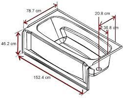 standard bathtub dimensions bathtub length standard bathtub