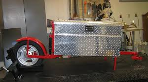 single wheel box motorcycle trailer