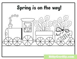 Printable Spring Coloring Pages Sing Laugh Learn Is On The Way Page