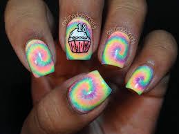 Free birthday nails ~ Free birthday nails ~ Diy tie dye nail art tie dye nails