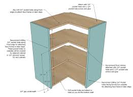 Corner Shelves For Kitchen Cabinets Ana White Wall Corner Pie Cut Kitchen Cabinet DIY Projects 71