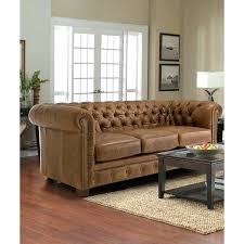 saddle leather sofa tufted distressed brown chesterfield soap