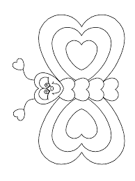 heartbutterfly valentines coloring pages coloringpagebook 40 simple fun valentine's day craft ideas just for kids on cute valentines template