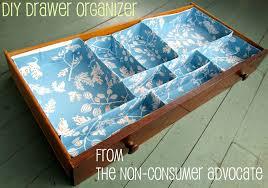 organization geeks need not go broke how to make a no sew drawer organizer