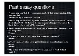 twelve angry men updated 3 past essay questions